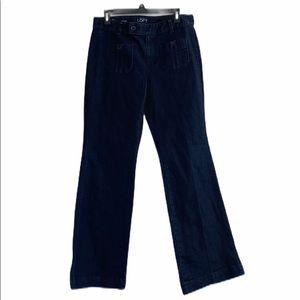 LOFT Curvy Flare Creased denim pants, SZ 8